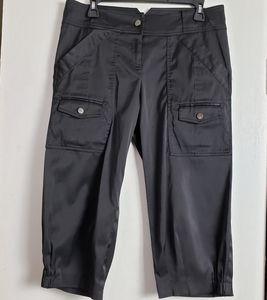 Cache Black Capri Pants size 8
